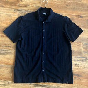 Brody Button Front Short Sleeve Shirt Large